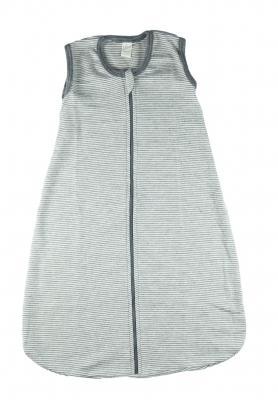 Lilano Schlafsack Wolle Seide grau/natur