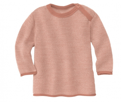 Disana Melange Pullover rose/natur