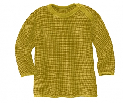 Disana Melange Pullover curry/gold